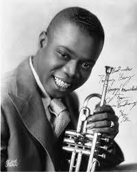 New Orleans's first son, the great Louis Armstrong complete with trumpet