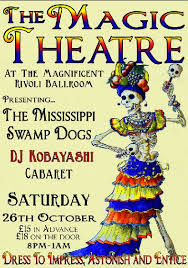 Poster for the Magic Theatre Burlesque Night at the Rivoii Ball Room London