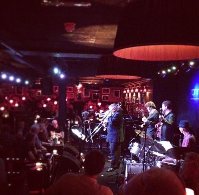 "Swing Band Hire. Swamp Lounge Band members playing live at internationally renowned Jazz club Ronnie Scott""s"