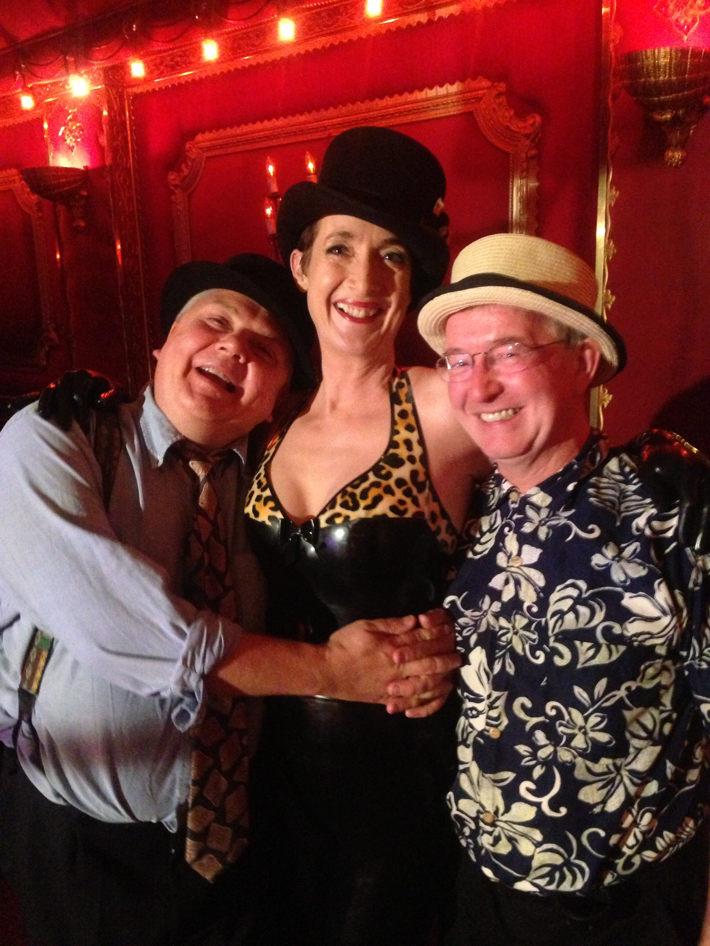 Jeff and Paul of the Mississippi Swamp Dogs with Magic Theatre organiser Claire
