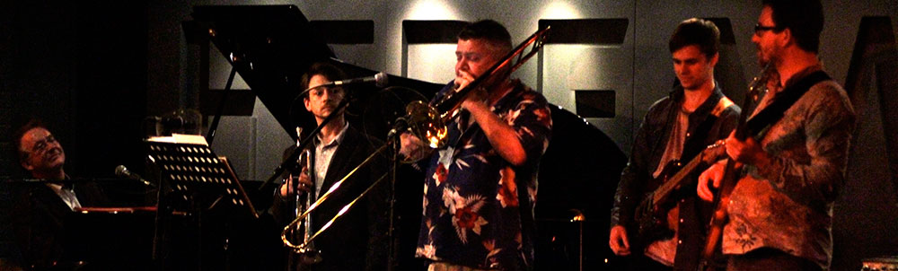 The band playing live at the Hideaway Jazz Cafe