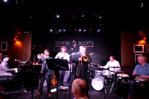 New Orleans Jazz Band hire-from the Mississippi Swamp Dogs Hire playing live at Ronnie Scott's</strong>