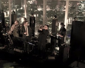Jazz Band London. the Shard on New Years Eve.