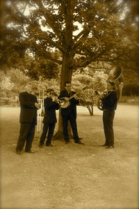 Jazz Band Hire Ides. Playing for an outdoor reception